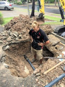 leaking water main polypipe repaired by Whywait Plumbing Services