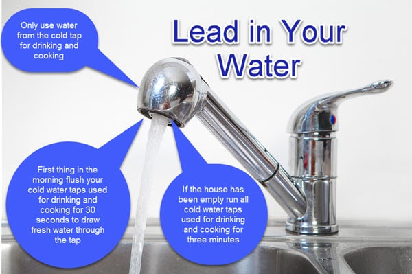 3 simple steps to reduce exposure to lead in water