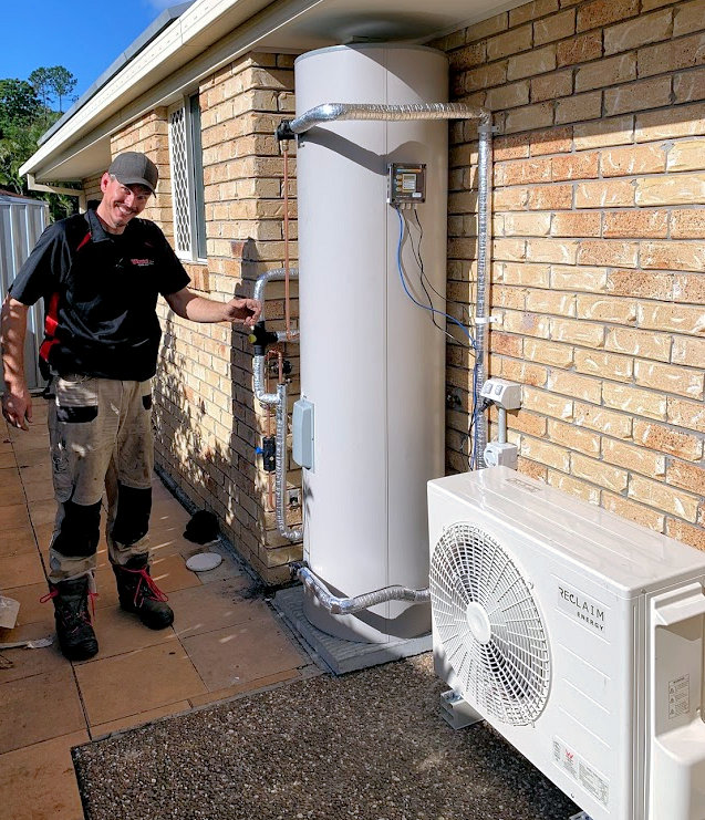 CO2 Smart Heat Pump hot water system installed by Whywait Plumbing Services Gold Coast